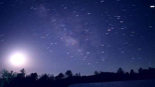 星景写真 K.Kawamoto 星景写真ギャラリー 宵空のシンフォニー   護摩壇山天体写真友の